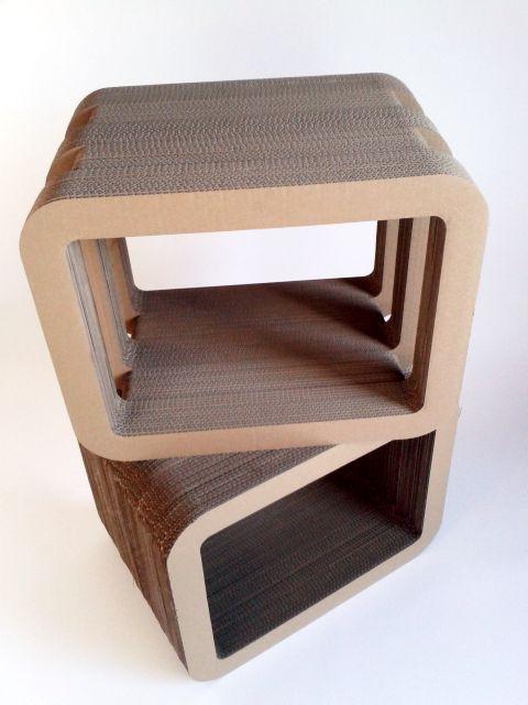 Stoliki lub półki meble z tektury / Table or shelfs from cardboard furniture, Cardboard furniture, meble z tektury, eko, ekologiczne, diy, zrób to sam