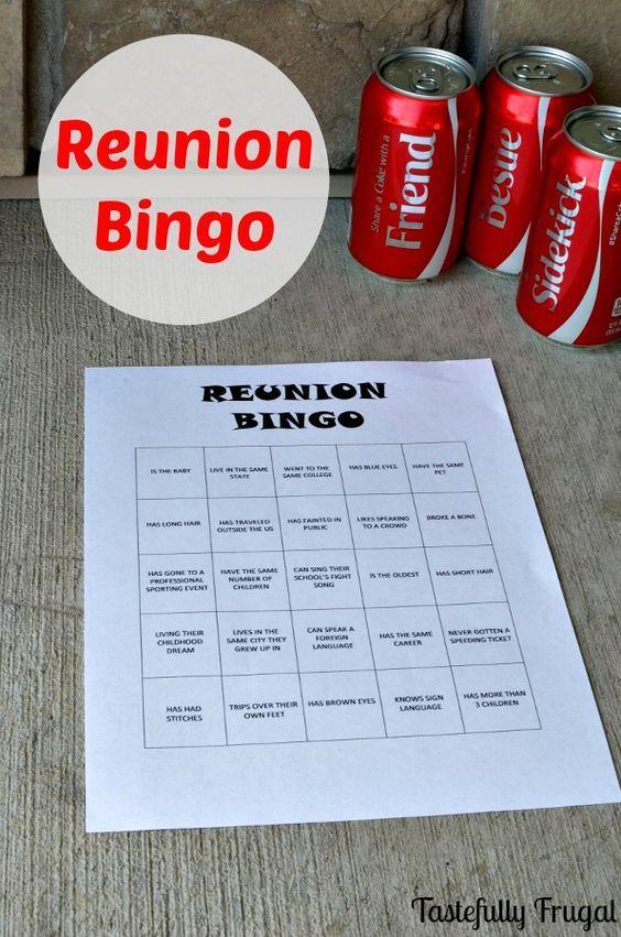 Reunion Bingo {FREE Printable | reunion activities ...