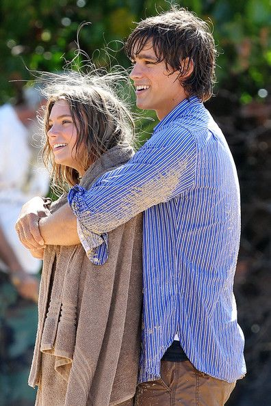 Indiana Evans Photos Photos - Australian soap stars Indiana Evans and Brenton Thwaites film the opening scenes for the Lifetime TV movie 'Blue Lagoon' on location in Maui, Hawaii on March 27, 2012. The stars were seen being capsized onto a deserted island. - Indiana Evans and Brenton Thwaites Film Blue Lagoon in Maui