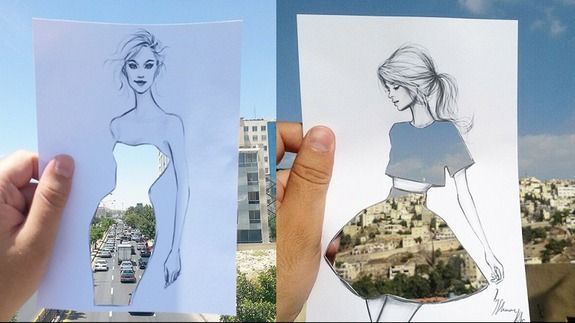 Illustrator finishes his work with nature's help