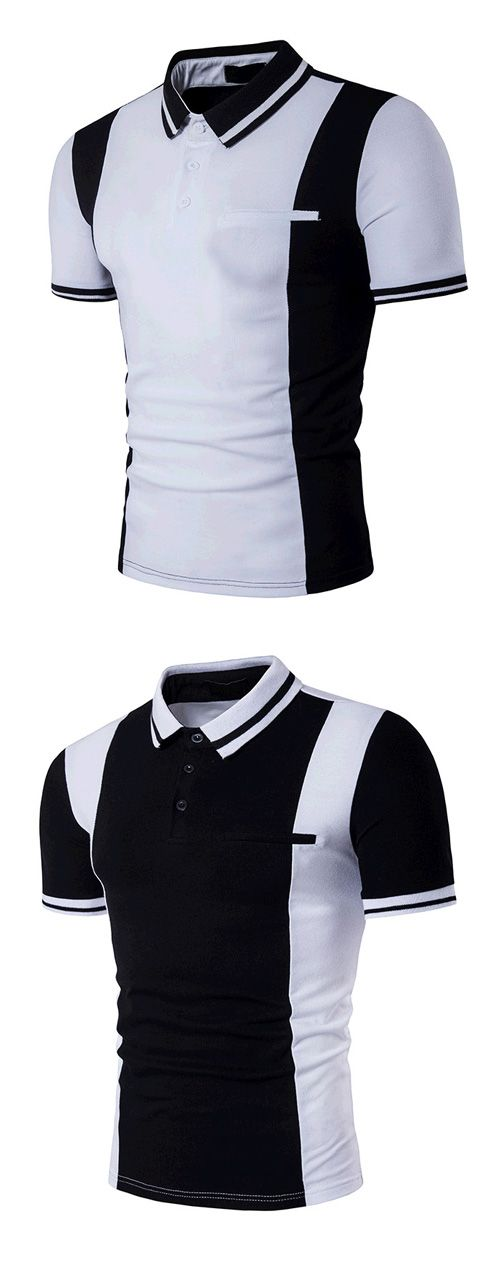 Men's Casual/Daily Simple Active Summer Color Block Shirt Collar Short Sleeves Polo
