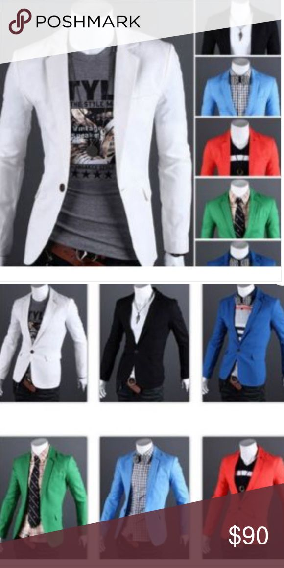Men's Casual Blazers Available in the colors seen in pictures. Order two sizes up. Shipping could take up to 4 weeks. Purchase today!!! Suits & Blazers Sport Coats & Blazers