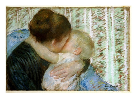 A Goodnight Hug ~Mary Cassatt    Has to be my favorite painting by Mary Cassatt.