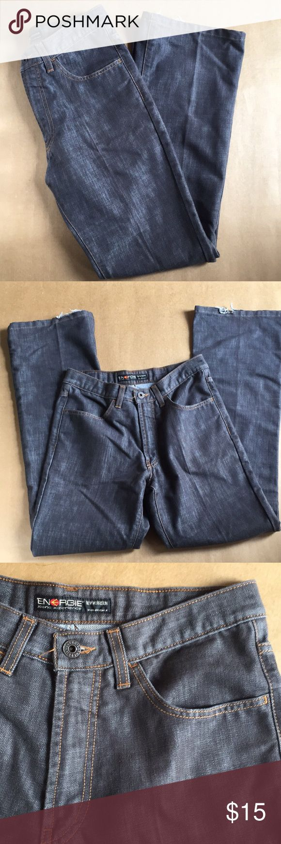 Gray Bootcut Energie Jeans These jeans are in good condition. They have some light wear and the bottom hens have some fraying. They are size 30. The inseam is 31 inches and the waist is 28 inches. Energie Jeans Boot Cut