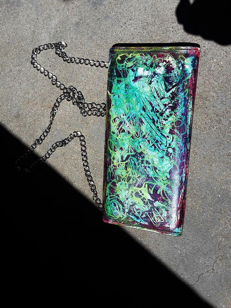 Sac verso Street Art avec myriade de couleurs. Sac relooké par Moduscray