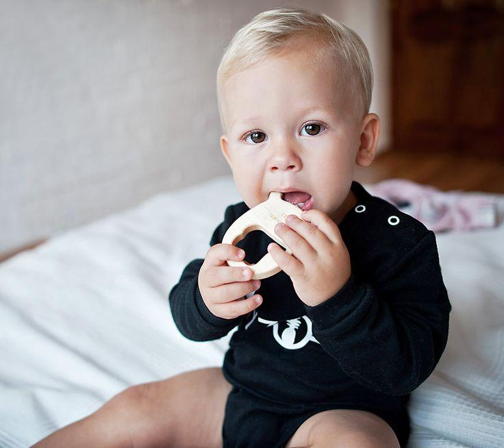 Drewniany gryzak MRB | Eco-friendly maple wood teether MRB  #lullalove #teether #wood #eco-friendly #maplewood #mrb #supertoy #babyshower #gift
