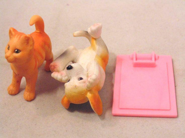 Vintage Mattel Barbie Love 'N Care Vet Center Cat, Dog, and Clipboard #Mattel #PetsAccessories