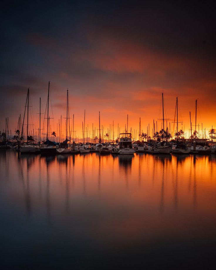 @vincelimphoto Instagram #water #sunrise #sunset #sun #ships #port