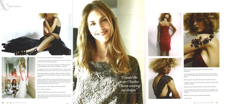 Interview in a magazine
