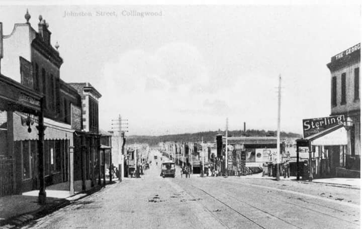 A cable tram on Johnson St,Collingwood in Victoria in. 1906.