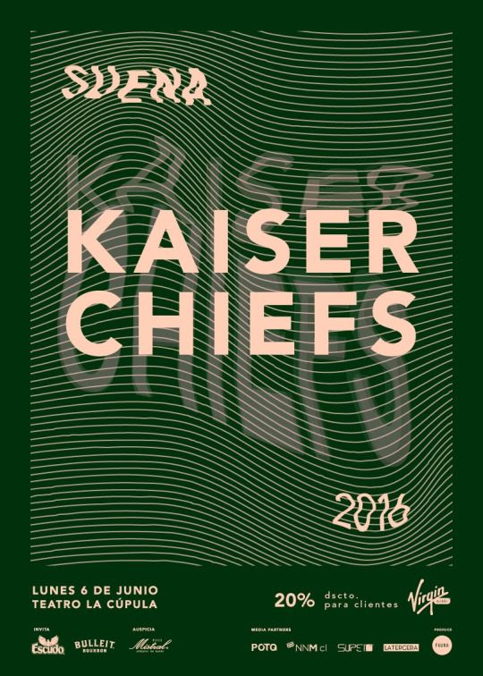 [www.PartyMonster.cl]  Ciclo S.U.E.N.A presenta: Kaiser Chiefs en Chile 6 de junio - Teatro La Cúpula