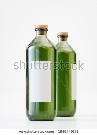 Two Olive Oil Bottles Product Shot - 3D Rendering