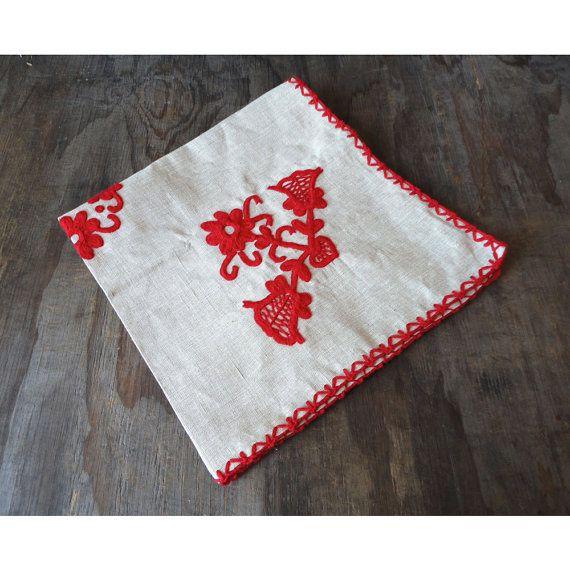 Scandinavian Tablecloth  Mid Century Woven by JustSmashingDarling, $39.00