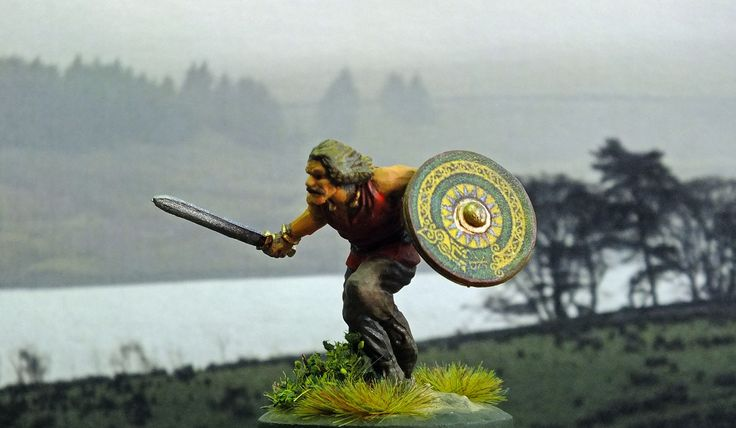 Viking gone Berserk! 28mm hard plastic. painted by Bob Hornsby