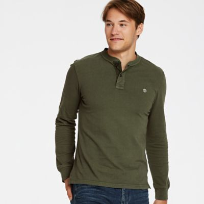 Timberland Men's Essential Henley Shirt Olive Night