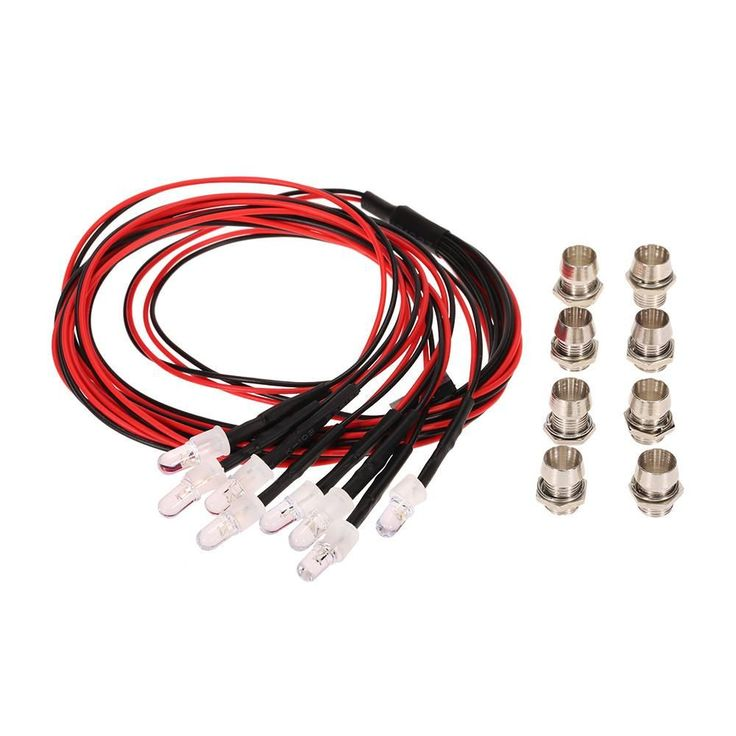 8 LED Light Kit 2 White 2 Red 4 Yellow for 1/10 1/8 Traxxas Redcat RC4WD Tamiya Axial SCX10 D90 HPI RC Car Parts