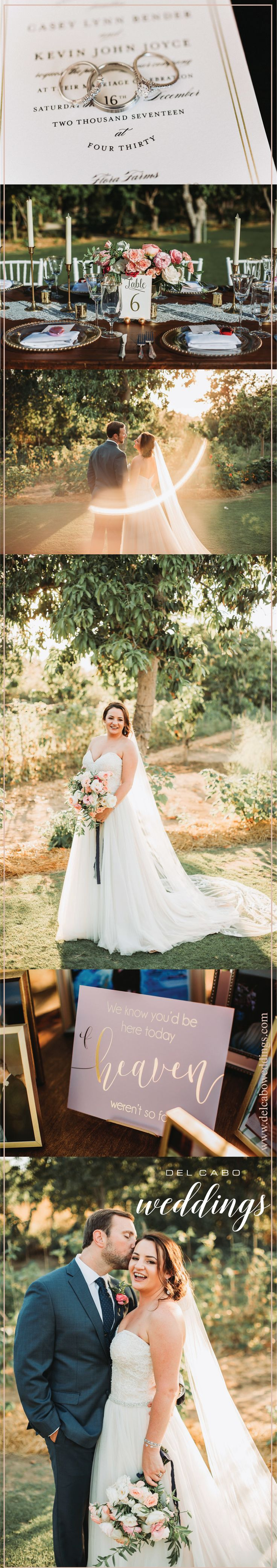 An amazing wedding at incredible Flora Farms! Casey and Kevin's wedding was magical and breathtaking! They had their dream destination wedding in Cabo come true!  Photos by: Ana and Jerome Photography Venue: Flora Farms Florals: Lola del Campo HMU: Suzanne Morel