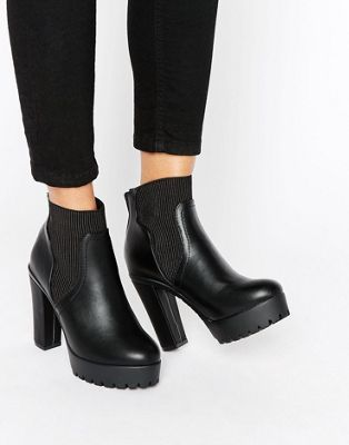 River Island Chunky High Ankle Boot