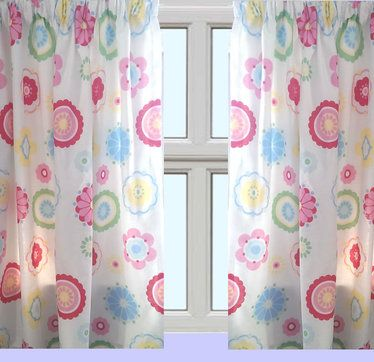 Mollie  Girls Bedroom Curtains  66 x 72 inch  White with a Pretty. 35 best Girls Curtains   Generic images on Pinterest   Girl