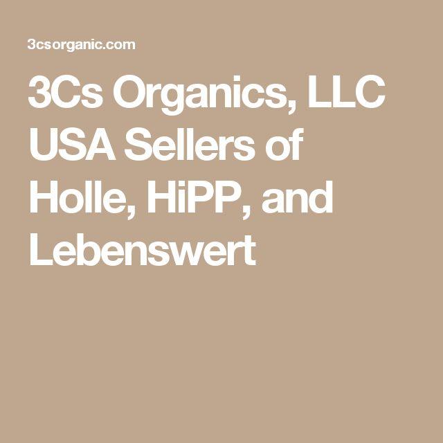 3Cs Organics, LLC USA Sellers of Holle, HiPP, and Lebenswert