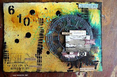 Art journal birthday card