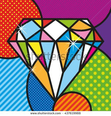 POP ART diamond brilliant luxury jewelry modern graphic for your design https://www.shutterstock.com/g/lilli_jemska?rid=158830&utm_medium=email&utm_source=ctrbreferral-link