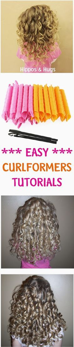 Hippos and Hugs: EASY Curlformers tutorials for beautiful curls!