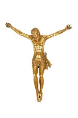 Cristo del siglo XVIII.Bronce.Medidas: 19 x 16 cm. Valor estimado 400-500 Euros