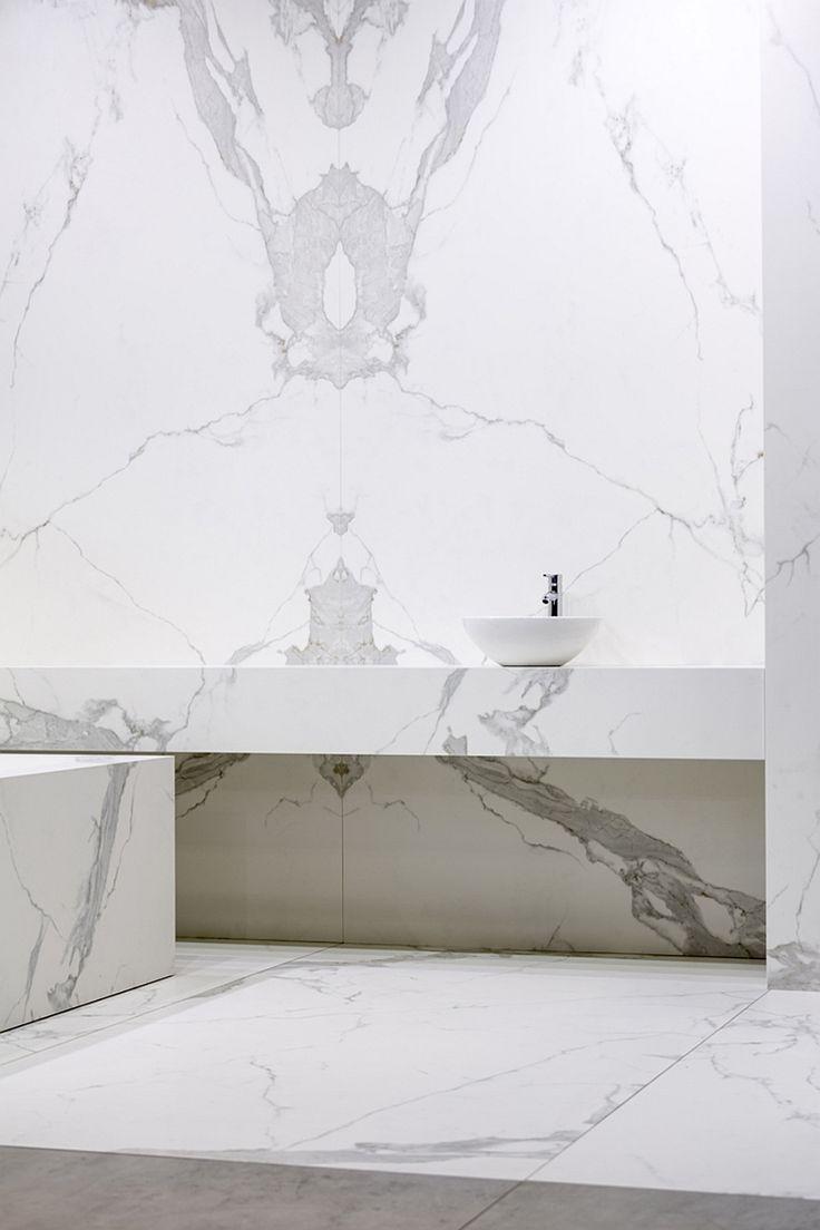 Floor To Ceiling Marble Bathroom Design Beautiful Minimal