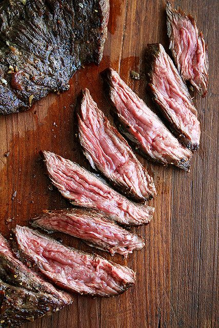 Pan Seared Flap or Skirt Steak with Shallots