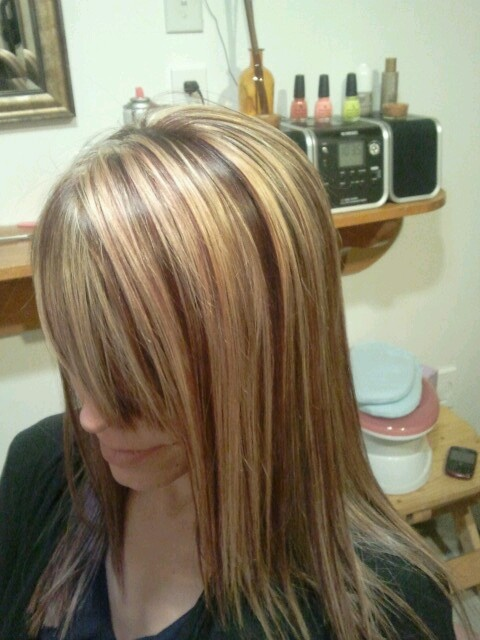 8 best chunky blondered highlights images on pinterest autumn red and blonde chunky highlights pmusecretfo Images