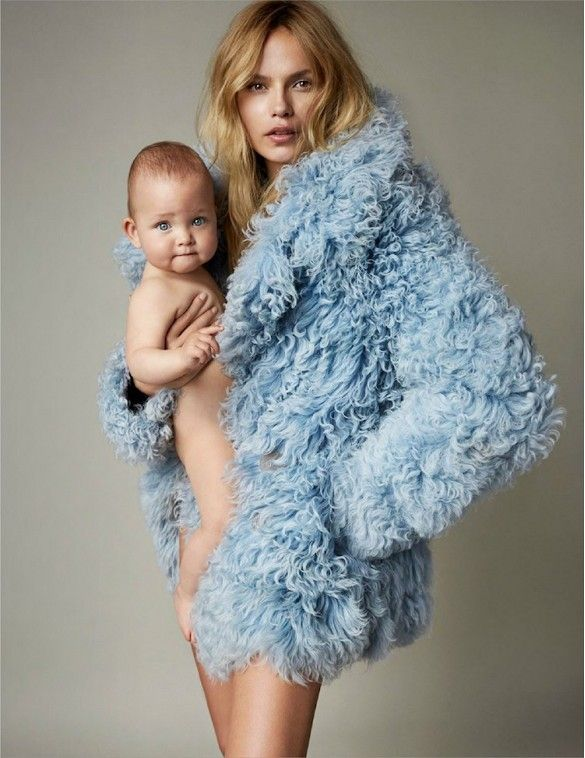 Natasha Poly And Her Baby Daughter Are Vogue Paris' Cover Stars via @WhoWhatWear