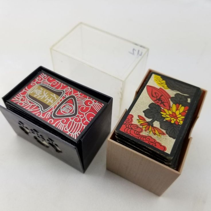 90 Vintage Hanafuda Cards Japanese Asian Oriental Antique Gambling Game 2 Deck Lot #oriental #hanafuda