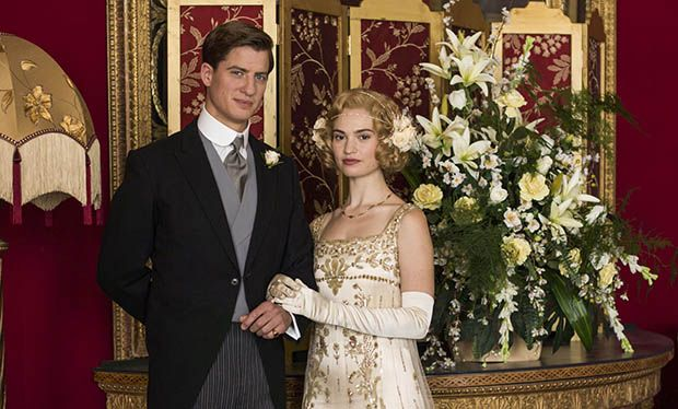 Downton Abbey series finale: guide to Lady Rose wedding dress as Lily James' character gets married
