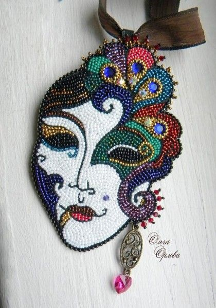Creative bead embroidery