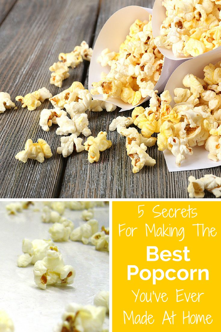 Toss the unhealthy microwaved popcorn! These 5 secrets will help you make movie-theatre quality popcorn right at home! It's also naturally vegan and dairy free. Tip 3 will blow your mind! | food hack | allergy-friendly