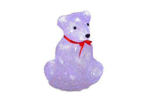 Eisbär Bär sitzend Acryl 20 LED warm weiß Figur Weihnachten Batterie 30 cm außen Nipach GmbH http://www.amazon.de/dp/B00FMVIAIQ/ref=cm_sw_r_pi_dp_0p5pwb1KDC5YZ