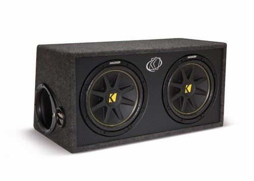 Kicker 10DC122 Dual 12 Inch Enclosued Car Audio Subwoofer Box
