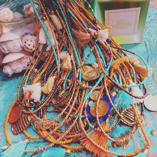 New new new 😍🤘🏼 #juwellery #kralen #beads #crearivity #kleinekaki #handmade #necklaces #ketting #necklace #ibizastyle #new #ibiza #kwastje #kwastjes #munt #munten