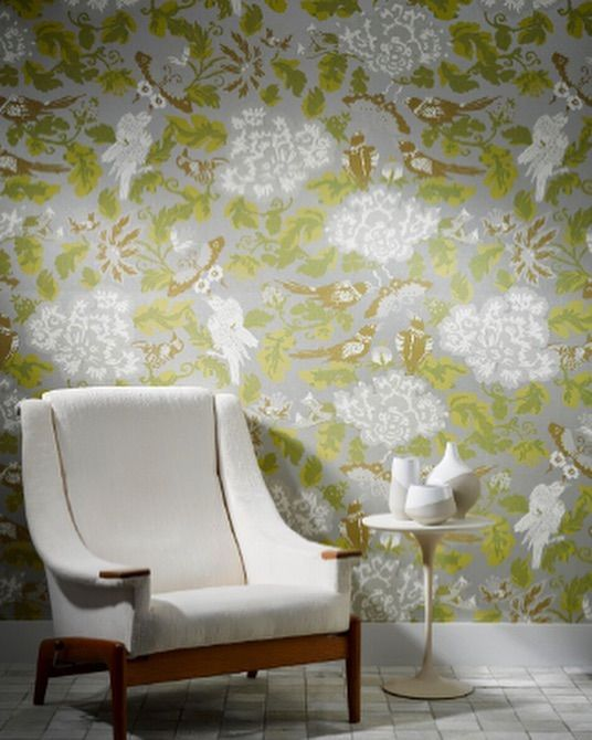 "Jim Thompson Fabrics on Instagram: ""The new Atmosphere Wallpaper Collection includes a screen printed wide-width adaptation of Floriental - a fanciful ..."
