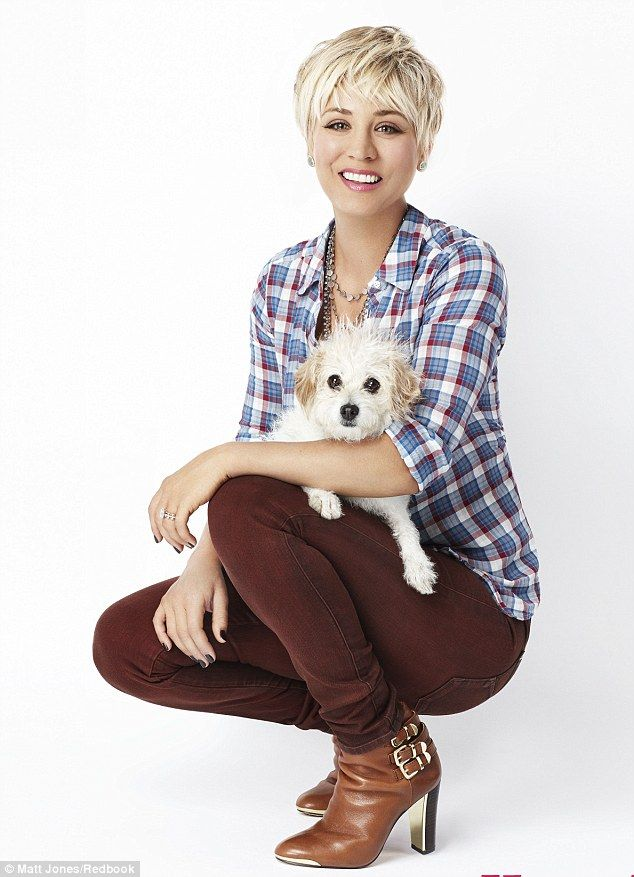 Looking cute: Kaley Cuoco shared her views on a variety of subjects in an interview with Redbook magazine