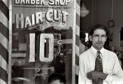 Ten cent haircuts...that's a long time ago...