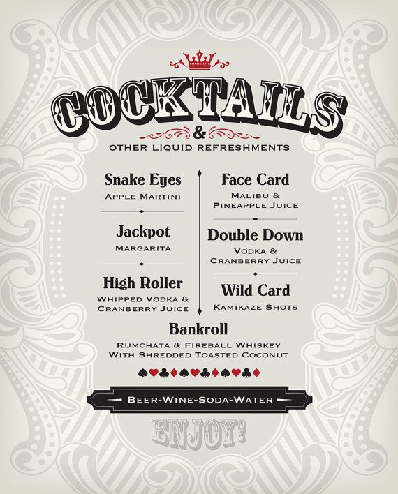 Best  Cocktail Menu Ideas On   Drink Menu Bar Menu
