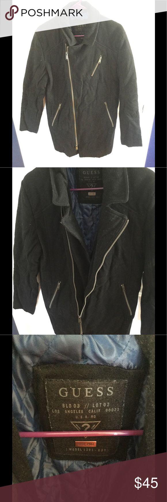 Long coat for men Good condition Guess Jackets & Coats Pea Coats
