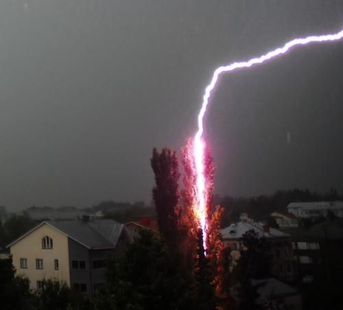 Close One! by Aixcracker: Thunderstorm, Finland 8/07 (real, not Photoshopped)