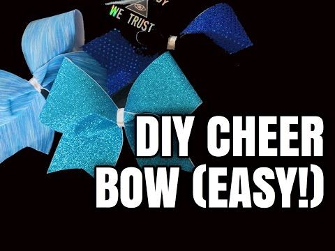 Cheer Bow Tutorial: How To Add Names In Glitter - YouTube