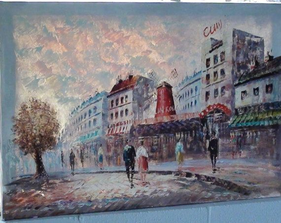 Impressionist Painting of the famous Moulin by RareEarthProducts, $620.00