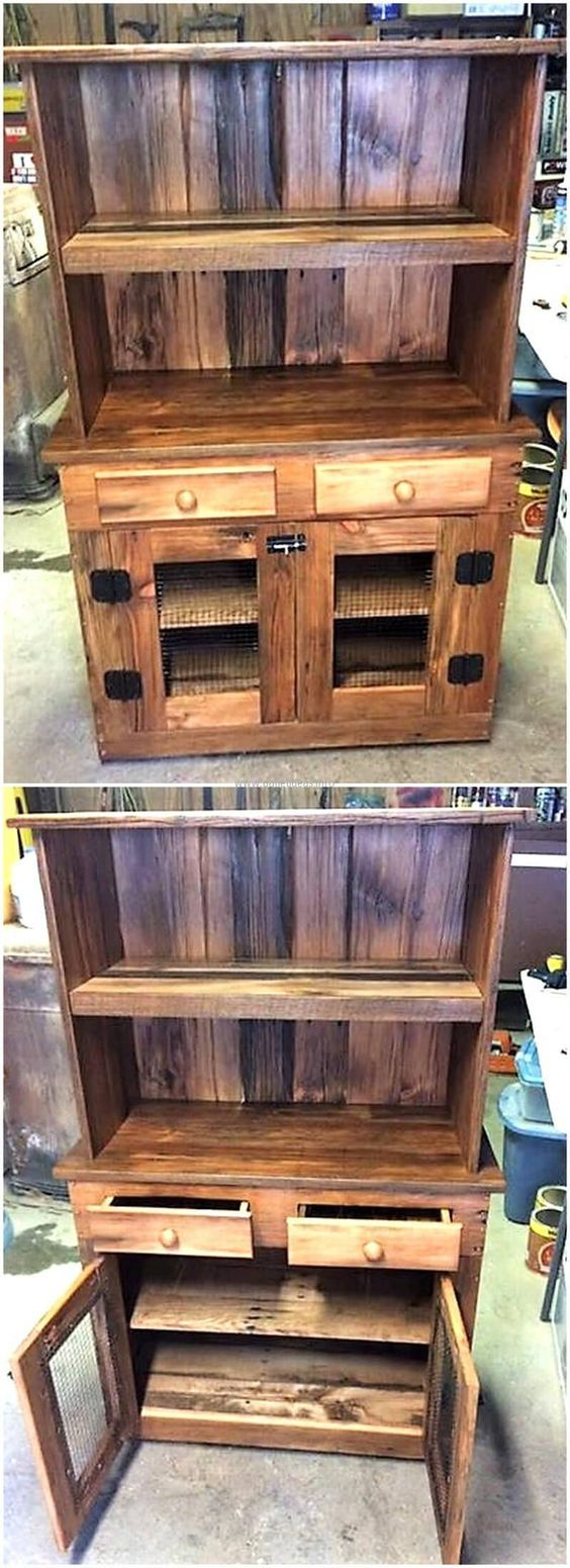 recycled pallets storage cabinet shipping pallets