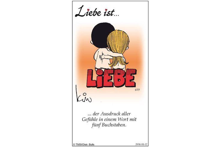 """Die Cartoons von """"Liebe ist…"""" bezaubern mit einem niedlichen Pärchen und kurzen Weisheiten rund um das Thema Liebe. Bild 6"""