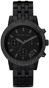 Michael Kors Blackout Chronograph Ladies Watch MK5527, (michael kors, womens watches, best deal, great deal, mens gift, mens watch, michael kors watch, watches)